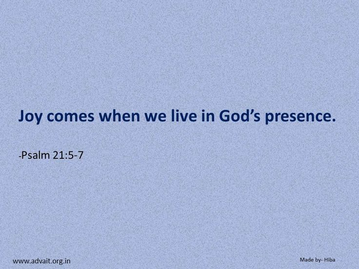Joy comes when we live in God's presence. ~Bible #ShriPrashant #Advait #bible #jesus #god #joy #presence #grace #love #surrender #intelligence Read at:- prashantadvait.com Watch at:- www.youtube.com/c/ShriPrashant Website:- www.advait.org.in Facebook:- www.facebook.com/prashant.advait LinkedIn:- www.linkedin.com/in/prashantadvait Twitter:- https://twitter.com/Prashant_Advait