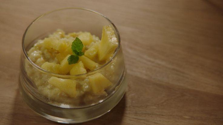 Gezonde rijstpap met kokosmelk en ananas  | VTM Koken