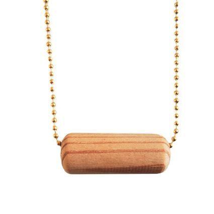 Keinu, kulta | Weecos #annieeleanoora #keinu #swing #woodandgold #puutajakultaa #kaulakoru #neklace