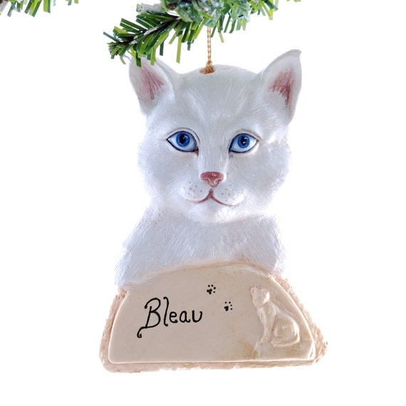 8 best Personalized Cat Ornaments images on Pinterest  Christmas