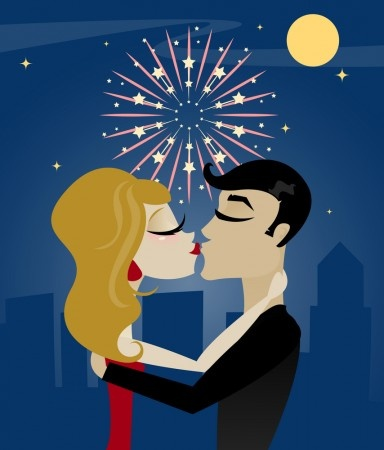 Kiss on New Years eve