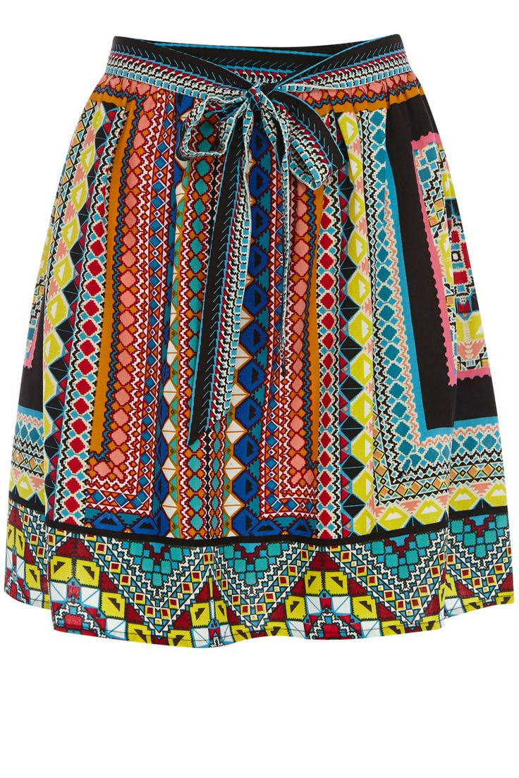 Bold patterned full skirt from Warehouse - an update on the neon geometric skirt of my disco-dancing youth