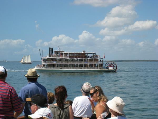 Kookaburra Queen II out in the bay!  www.kookaburrariverqueens.com