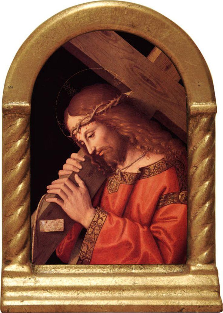 Christ bearing the cross desk shrine in 2020 catholic