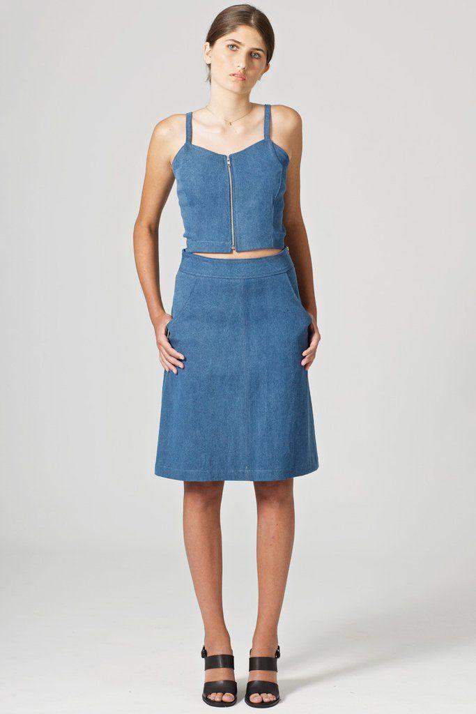 Eames silk colorblock dress