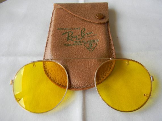 True Vintage Rare Bausch  Lomb Ray-Ban yellow by Tamtasvintage