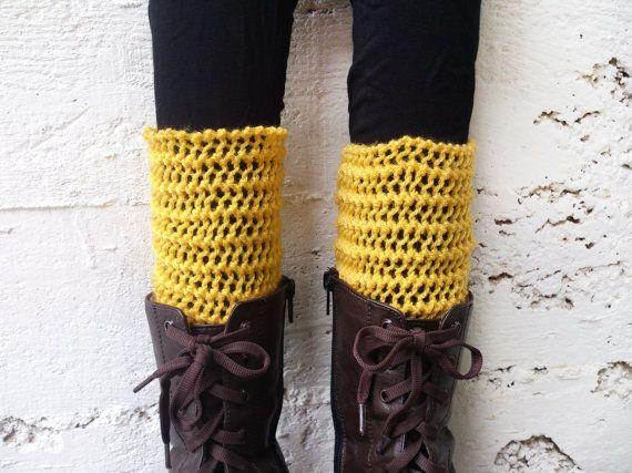 Lace boot cuff Christmas gifts Knit leg warmer Knit by GuruMIme