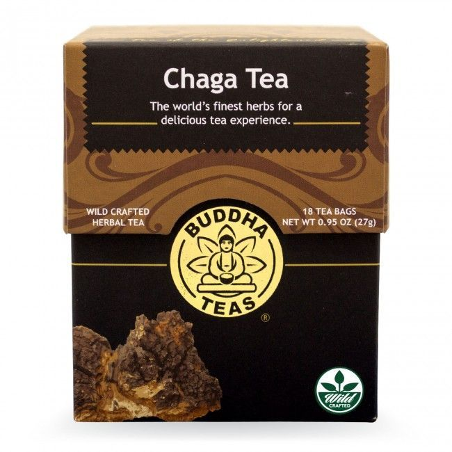 Chaga Mushroom Tea 18 Sachets Bleach Free Tea Bags From Buddha Teas