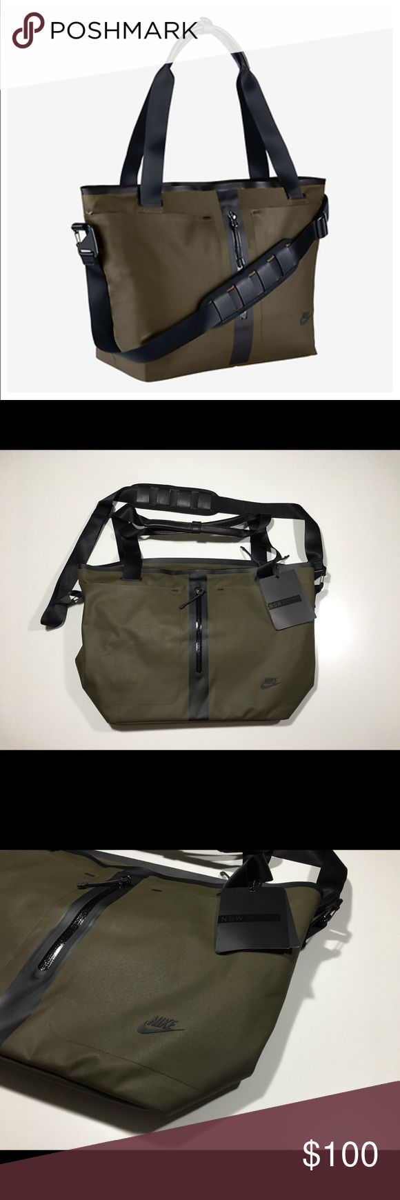 Nike Tech Bonded Tote Bag Dark Loden NWT BA5261 New with Tags. Retail 175.00 Nike Bags Totes