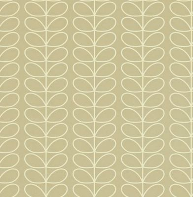 Linear Stem (110397) - Orla Kiely Wallpapers - A pretty small scale design of Orla Kiely's stem. Shown in a off white outline on grey - more colours are available. Please request a sample for true colour match. Paste-the-wall product. 4.2cm pattern repeat.