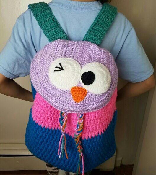 Tutorial mochila de buho a crochet. https://www.youtube.com/watch?v=lCtPBxceZwc