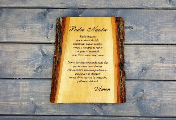 Our Lords Prayer Wall Plaque, Our Lords Prayer, Padre Nuestro, Spanish Plaque, Bible Verse, Religious, Inspirational, Personalized, Sign