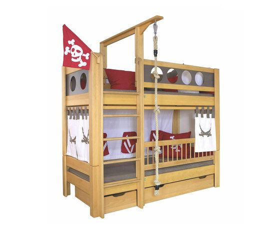 Pirate Bunk bed with drawers DBA-202.8 by De Breuyn | Infant's beds