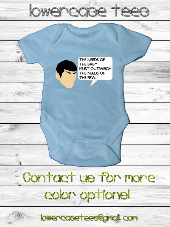 Baby Star Trek Inspired Spock Onesie Need Of The Baby By