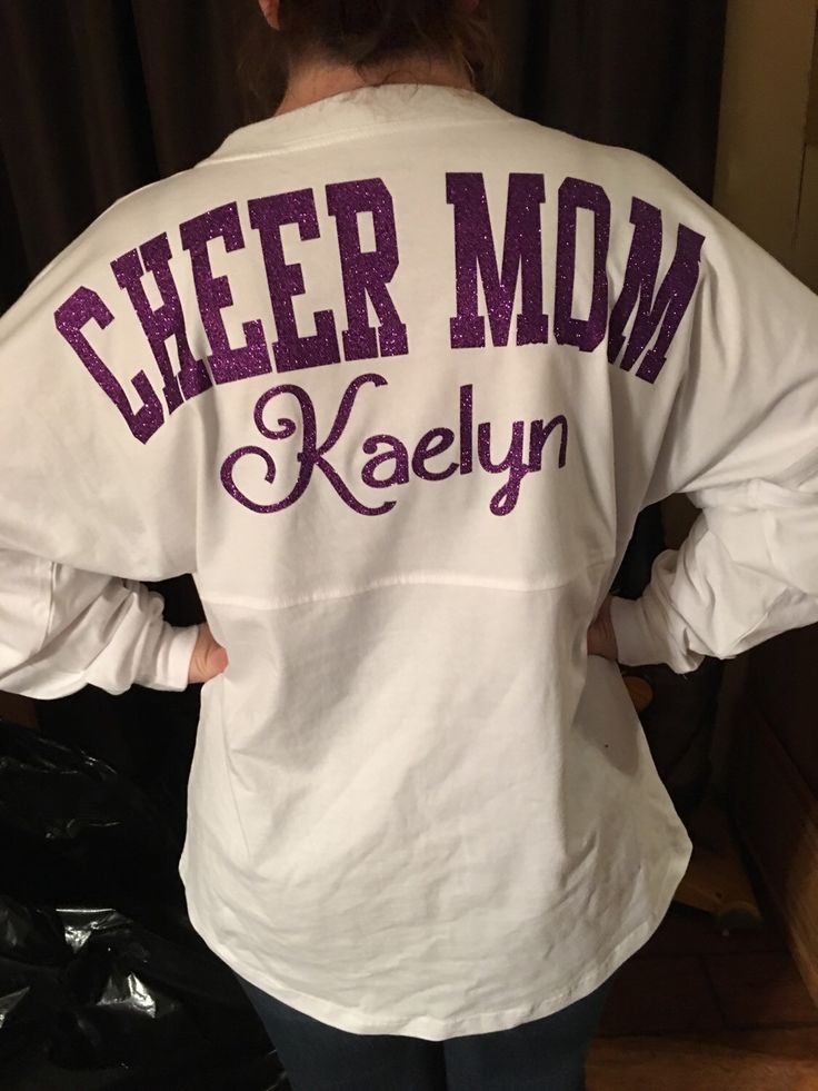 A personal favorite from my Etsy shop https://www.etsy.com/listing/269901370/cheer-mom-spirit-jerseyany-sports-mom