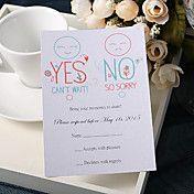 personaliseren bruiloft reactie kaarten - ja ... – EUR € 18.06