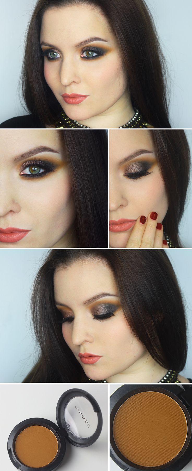 Till den här makeupen använde jag min nya ögonskugga från MAC som heter Uninterrupted. Den är inte ny i sortimentet, men ny i min samling! En unik och ursnygg varmbrun färg som kan se orange ut...