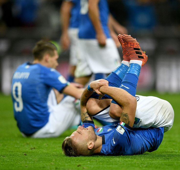 Ciro Immobile of Italy dejected during the FIFA 2018 World Cup Qualifier Play-Of...