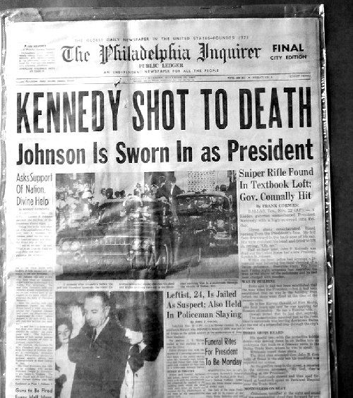 The assassination of President John F Kennedy...Horrifying.  3RD GRADE EMERSON ELEMENTARY SCHOOL -- MS PATRICIA SMITH--I CAN STILL SEE HER CRYING AND HUGGING ME ...JUST THE BEGINNING OF HISTORY FOR ME
