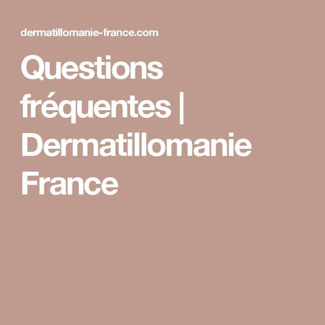 Questions fréquentes | Dermatillomanie France