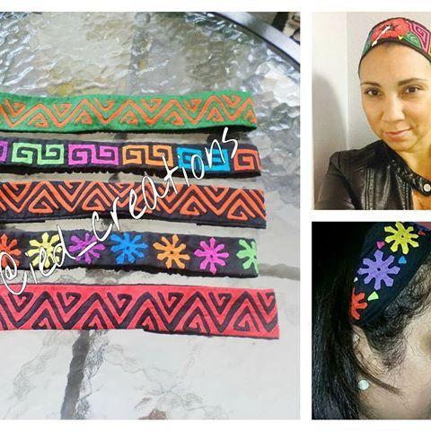 Disponibles las #vinchas de molas con elásticos para regalar en estas fiestas. Pedidos y consultas a iedyi28@gmail.com o direct #molas #mola #panama #panamacity #ventaspanama #moda #style #molaspanama #designs #diseños #hechoamano #handmade #headbands #bandanas #fashion #artepanama #diseñopanameño #panamademoda #fashionpty #modapanama #modapty #accesorios #accesories #colorful #handcraft #madeinpanama #design #artetextil #textilart