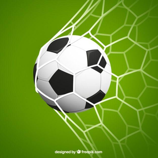 Gol de fútbol Vector Gratis