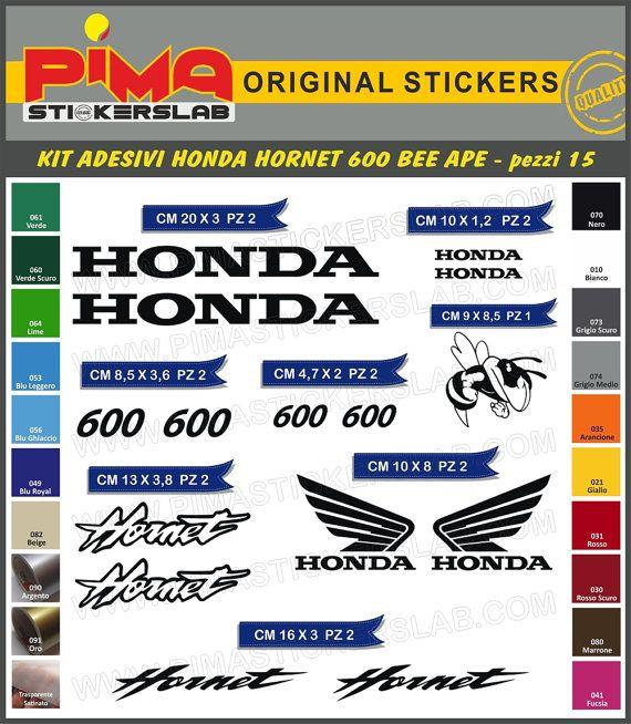 Adesivi Stickers kit HONDA HORNET 600 bee moto di PIMAstickerslab