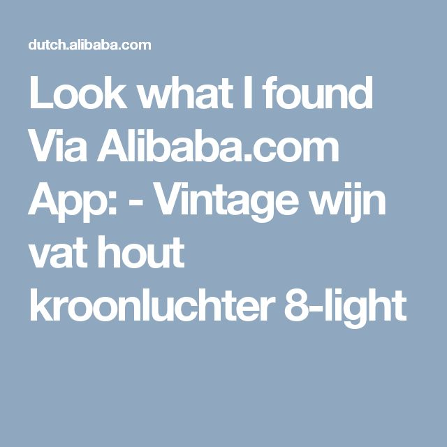 Look what I found Via Alibaba.com App: - Vintage wijn vat hout kroonluchter 8-light