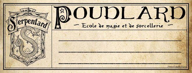 Potter Frenchy Party - Une fête chez Harry Potter: Travaux pratiques : fabriquer les cahiers d'école de Harry Potter à Poudlard