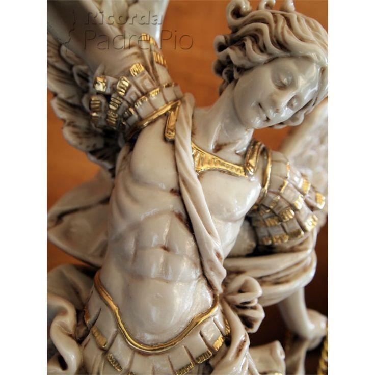 Statua San Michele Arcangelo effetto Antichizzato 50-100cm
