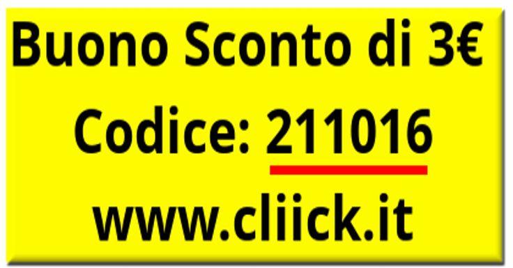 Buono Sconto di €3 Da Spendere Su www.cliick.it