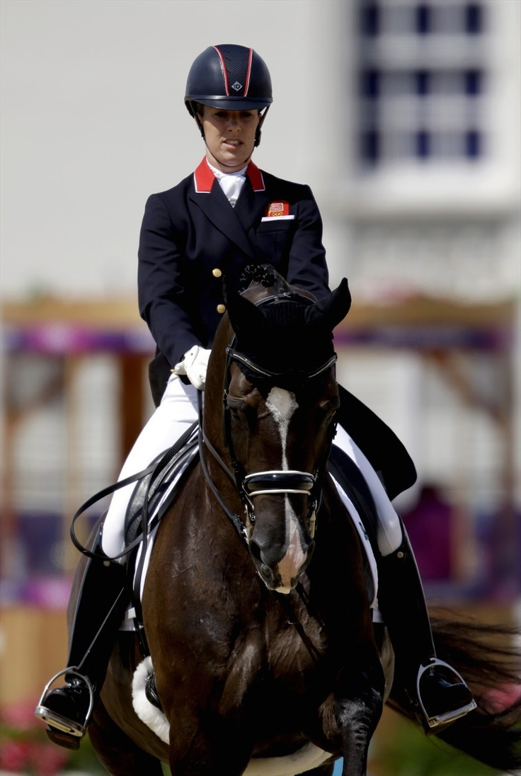 Charlotte Dujardin of Great Britain rides Valegro in dressage competition at the 2012 Summer Olympics Aug. 3. Dujardin set a record as she took the lead.