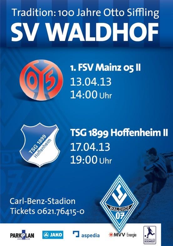 Next Fixtures/Die nächsten Begegnungen: 13.04.2013, 14:00 h, SV Waldhof Mannheim 07 - 1. FSV Mainz II (U23) & 17.04.2013, 19:00 Uhr, SV Waldhof Mannheim 07 - TSG 1899 Hoffenheim II (U23)