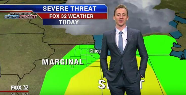 Tom Hiddleston Read The Weather As Loki… And Blamed Everything On Thor. - http://www.lifebuzz.com/loki-weather/
