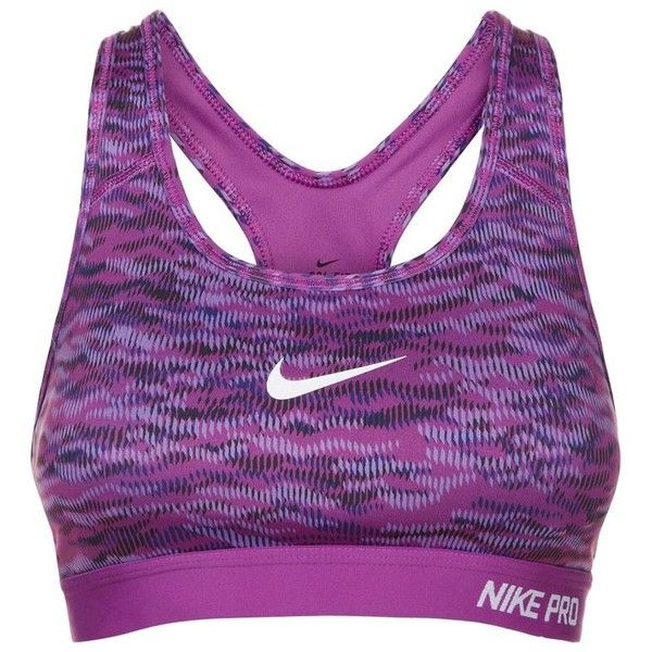 Nike Pro Classic Padded Reflect Sports Bra (76 NZD) ❤ liked on Polyvore featuring activewear, sports bras, nike, purple sports bra, nike sports bra, nike activewear and nike sportswear