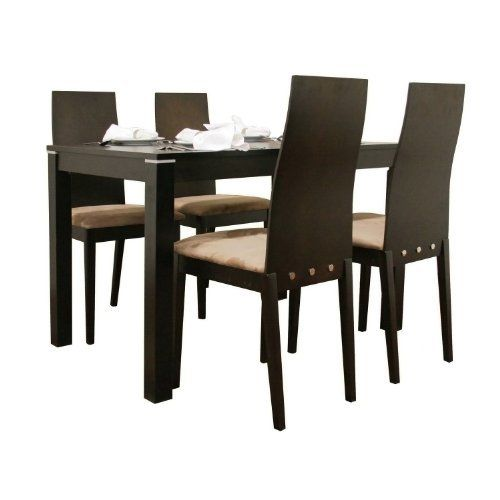 Are You Prepared For A Stylish New Dining Table This Contemporary Solid Wood In Wenge Finishs Smaller Size Is Ideal Breakfast Nooks