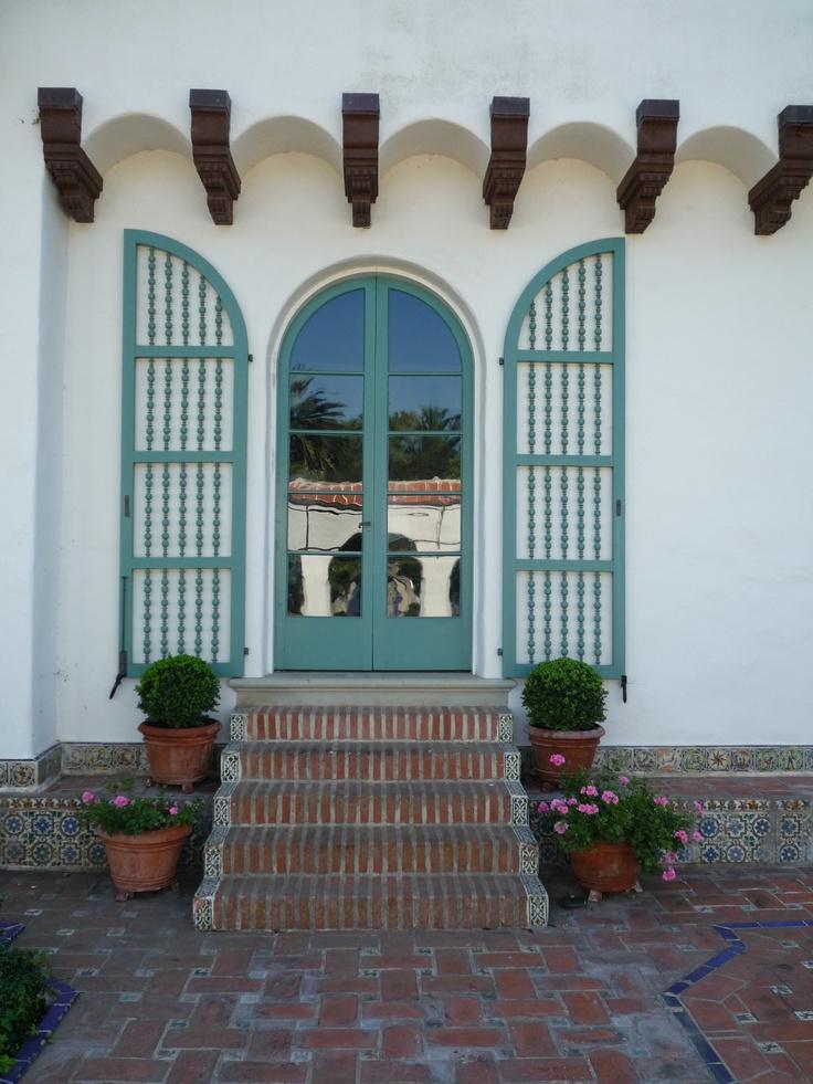 17 best images about hacienda exterior on pinterest home for Spanish revival exterior paint colors