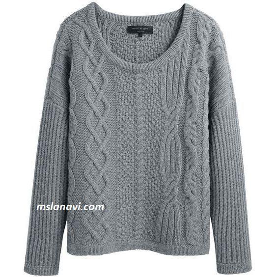 Пуловер с узорами ассиметрией - СХЕМЫ http://mslanavi.com/2017/06/pulover-spicami-s-assimetrichnymi-uzorami/