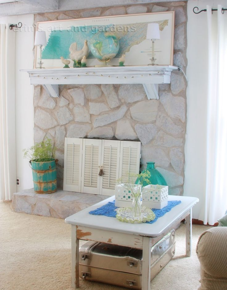 how to how to whitewash stone fireplace : The 25+ best Painted stone fireplace ideas on Pinterest | Painted ...