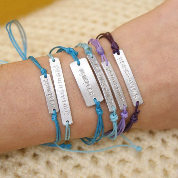 personalized bracelet , gift idea, friendship bracelet, strings, id bracelet, Id & Medical Bracelet,Diabetic bracelet, Medic alert bracelet