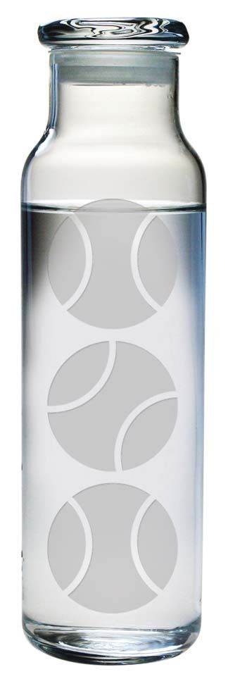 Tennis Balls Water Bottle with Lid Whether it's a gift for yourself or your tennis partner, this Tennis Balls Water Bottle is a great way to stylishly carry your water to the court. This glass water b