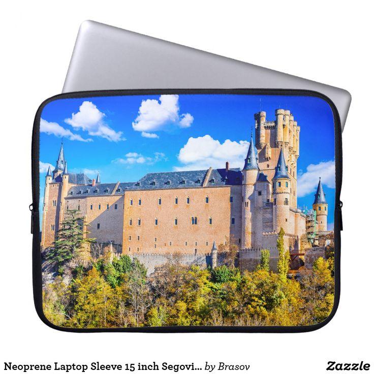 Neoprene Laptop Sleeve 15 inch Segovia castle