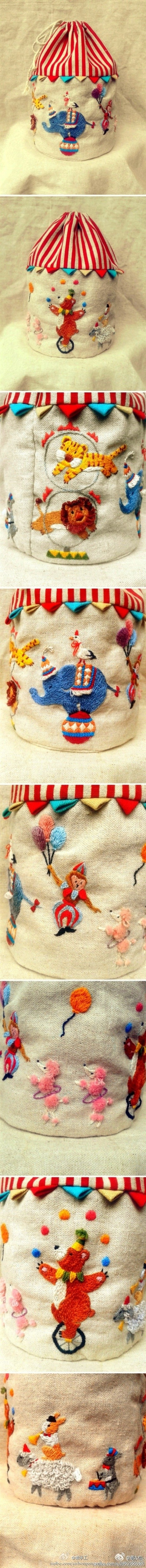 beautiful circus embroidery