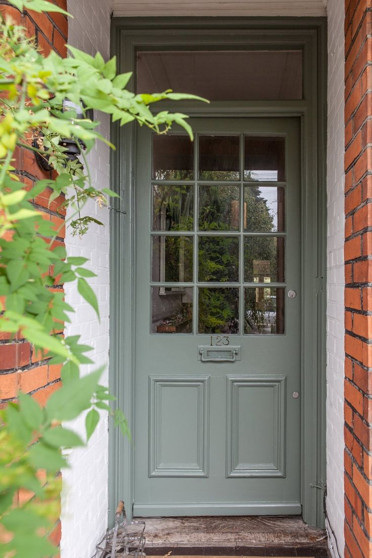 Farrow and Ball Green Smoke Front Door