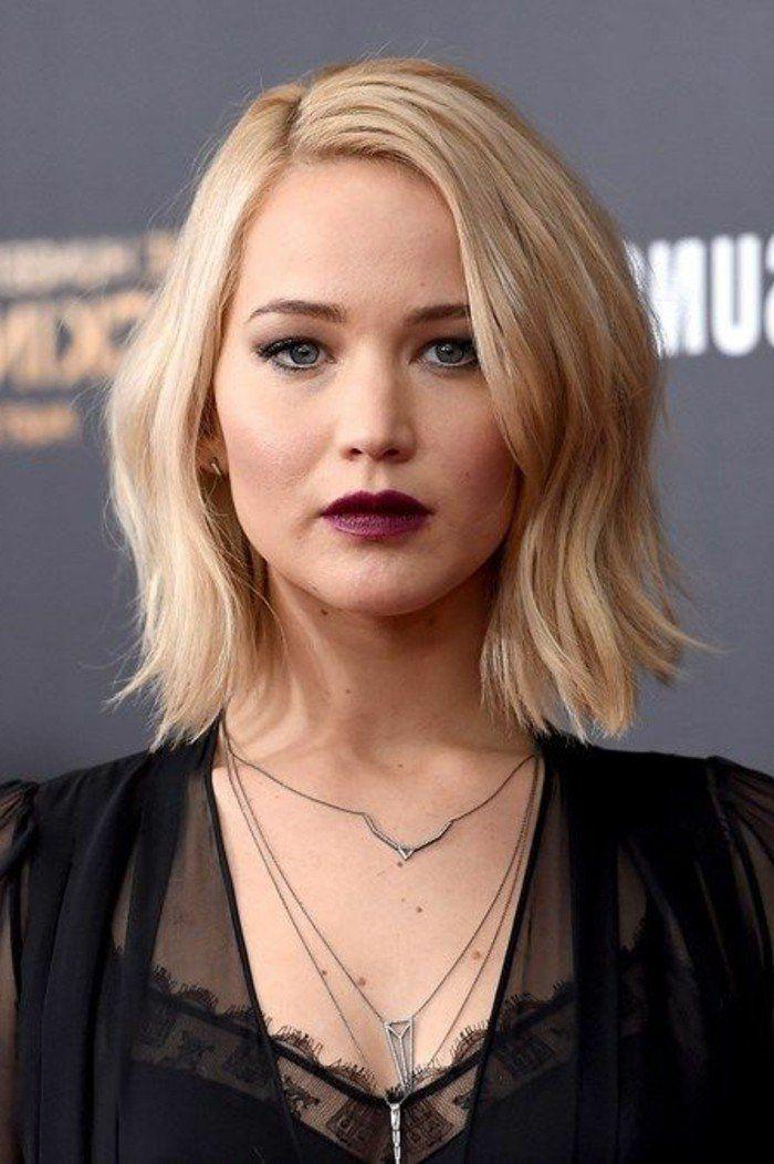 coupe carrée de Jennifer Lawrence