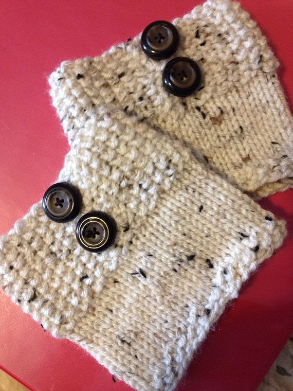 Hand Knitted Boot Cuff