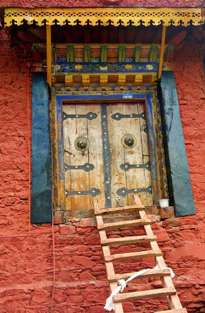 """""""A Tibetan Doorway"""" Ganden Monastery - Tibet                                                                                                                                                      Plus"""
