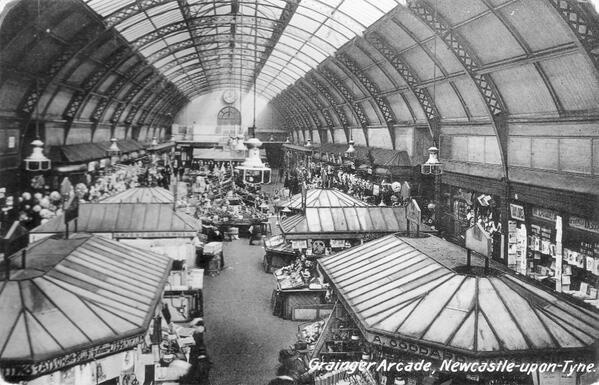An old photograph of the Grainger Market Arcade from Twitter  No