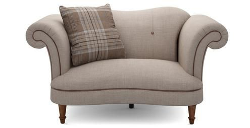 Moray Plain Cuddler Sofa £699 DFS armchair also. Darker col also. Concerto does velvet