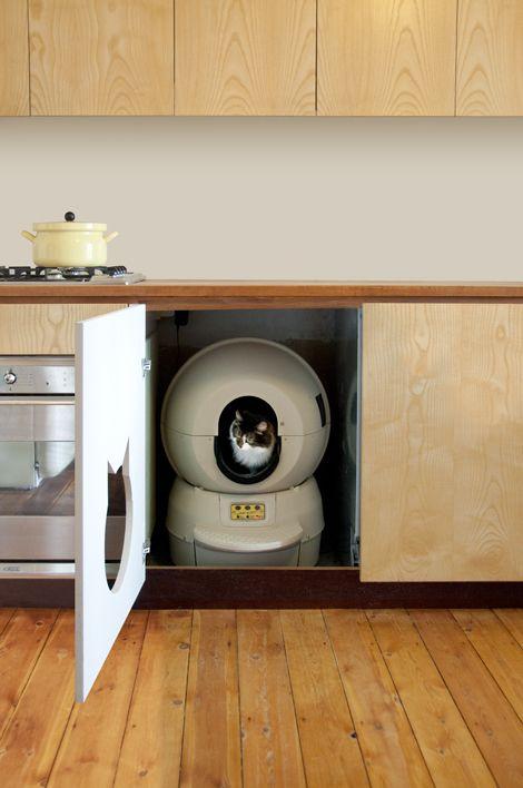 Lovely Litter Robot Cabinet #11 - Een Kattenbak Uit De Toekomst